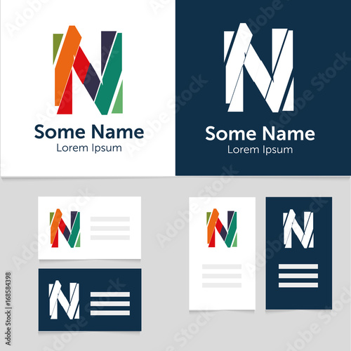 Editable business card template with n letter logoctor editable business card template with n letter logoctor illustrationeps10 cheaphphosting Image collections