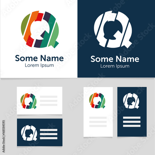 Editable business card template with q letter logoctor editable business card template with q letter logoctor illustrationeps10 cheaphphosting Choice Image