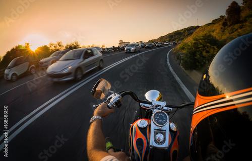 Zdjęcie XXL Na wybrzeżu motocyklem