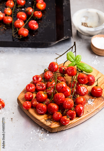 Roasted cherry tomatoes Canvas Print
