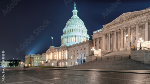 United States Capitol Building at night. © lucky-photo