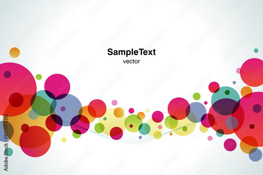 Background Color Bubble Wide