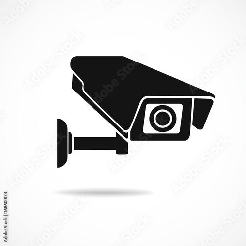 Obraz cctv camera isolated on white background - fototapety do salonu