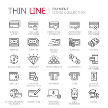 Collection Of Payment Thin Lin...