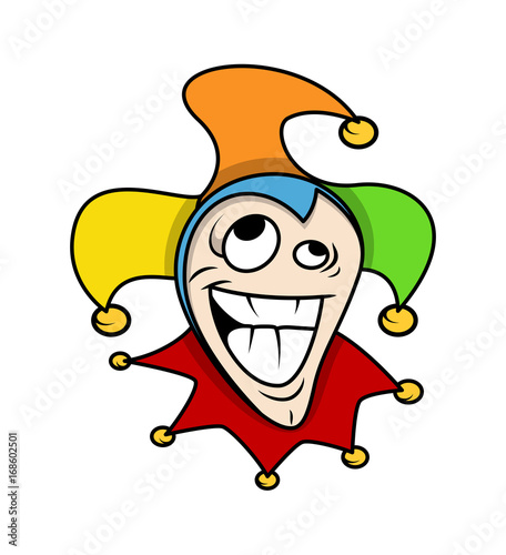 Dumb Cartoon Joker Face Expression Buy This Stock Vector And