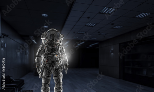 Cuadros en Lienzo Space suit design. Mixed media