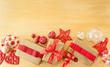 Leinwanddruck Bild - Huebsch verpackte Geschenke zu Weihnachten