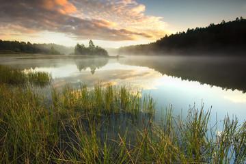 Kashubia, Poland./ Sunrise