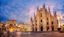 Milan Cathedral On Sunrise, It...