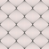 Vector seamless pattern, modern subtle background with thin lines, halftone squares, optical illusion. Monochrome geometric texture. Abstract design element for prints, decor, digital, web, furniture - 168617790