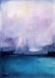 Akwarela krajobraz niebo chmury - 168618565