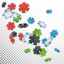 Falling Casino Chips Vector. F...