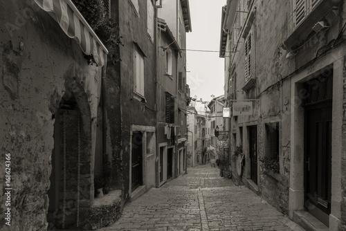 Acrylic Prints Narrow alley old street rovinj