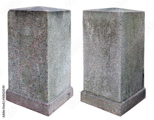 Two granite old vertical rectangular blocks Canvas Print