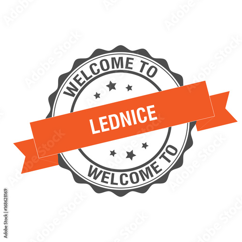 Welcome to Lednice stamp illustration Poster