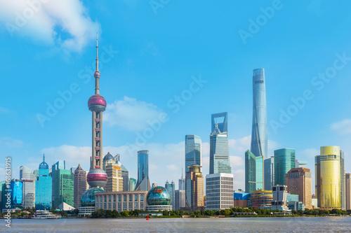 Plakat Architektoniczne krajobrazy i panoramę Szanghaju