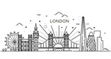 Fototapeta Londyn - Linear banner of London city.