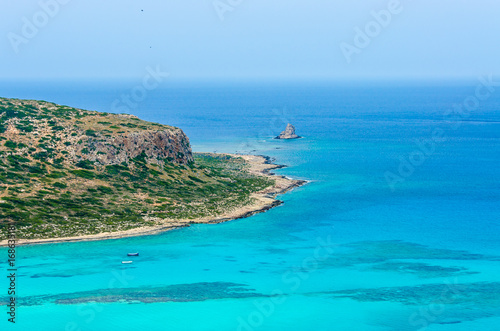 Photo Stands Turquoise Paradise beach balos at beautiful bay and coast - View over Balos Lagoon, island on Crete, Greece