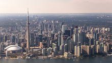 Aerial View Of Toronto City Waterfront And Skyline