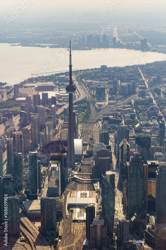 Keuken foto achterwand New York Downtown Toronto Aerial View, Vertical