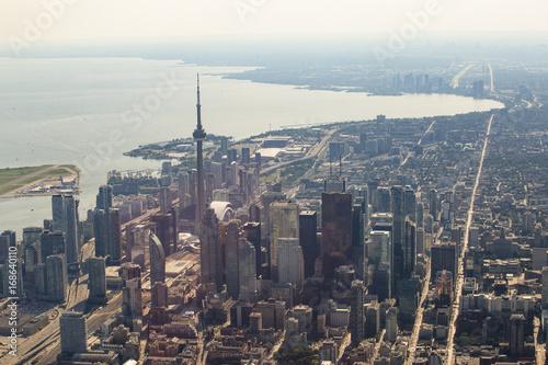 Fototapeta Widok z lotu ptaka Toronto śródmieścia sedno