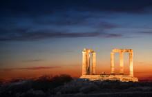 Der Tempel Des Poseidon Bei Na...