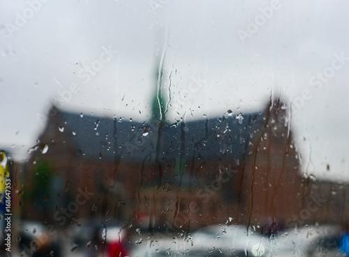 Rainy day in Copenhagen, Denmark Poster