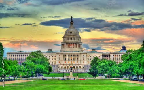 Keuken foto achterwand New York City The United States Capitol Building in Washington, DC