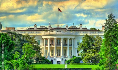 Fond de hotte en verre imprimé New York City The White House in Washington, DC