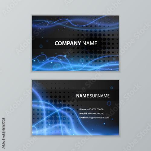 Dark modern business card design template buy this stock vector dark modern business card design template reheart Choice Image