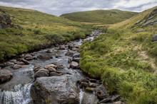 Steppe Mountain Grass River Na...