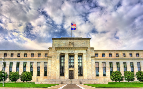 Fond de hotte en verre imprimé New York City Federal Reserve Board of Governors in Washington, D.C.