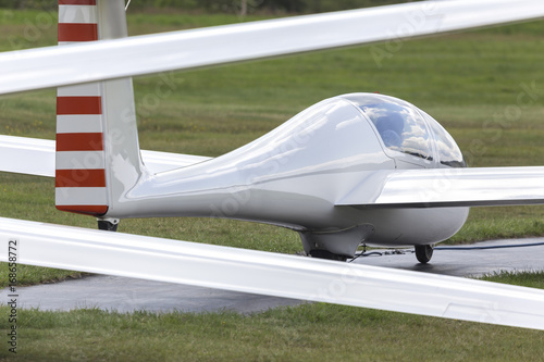 sailplane on an airfield