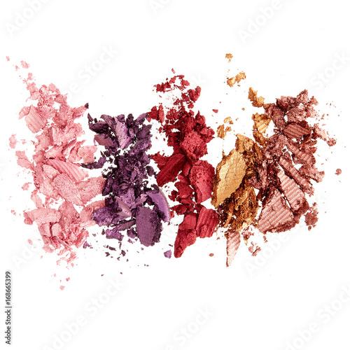 Fotografie, Obraz  Smashed colorful eyeshadow
