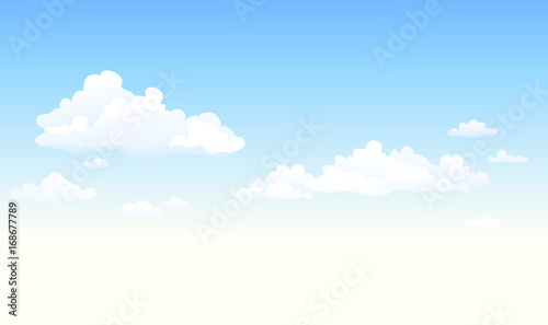 Fluffy clouds background