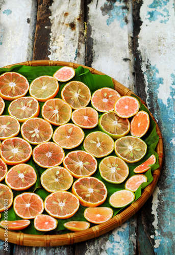 pink lemon slices