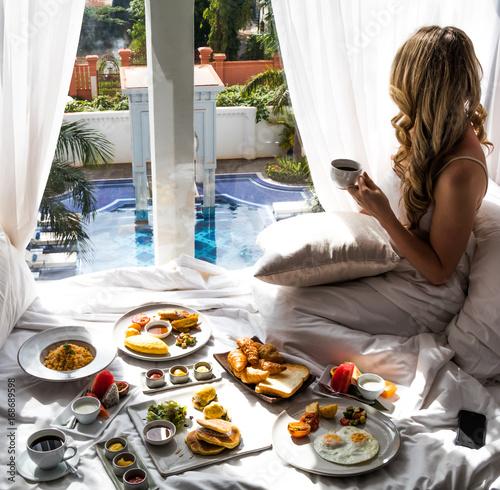 Fotografie, Obraz  Luxury Travel Lifestyle Breakfast View