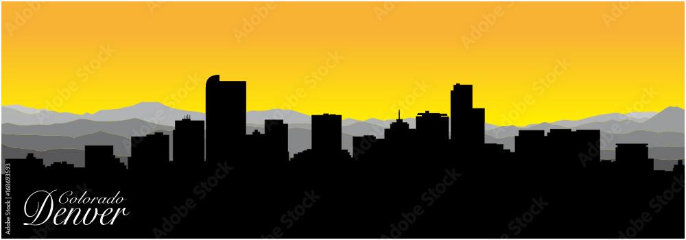 Fototapeta Silhouette of Denver the capital of Colorado