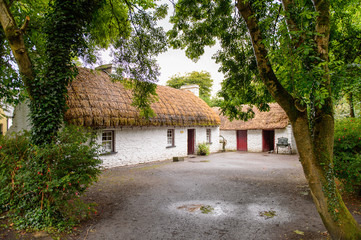 Fototapeta na wymiar House in Bunratty village (End of the Raite river) is an authentic small village in County Clare, Ireland