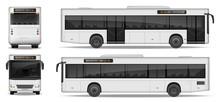Realistic City Bus Template Is...