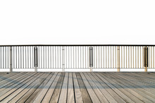 Wooden Floor And Railings Isolated