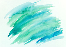 Blue And Green Watercolor Brus...