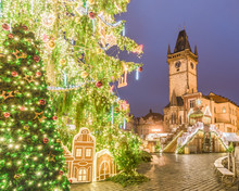 Christmas Tree In Magical City...