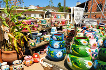 Colorful Pottery In Old Town O...