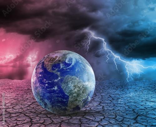 Fototapety, obrazy: Global warming and apocalypse