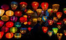 Paper Ornamental Lamps. Hoi An - Vietnam