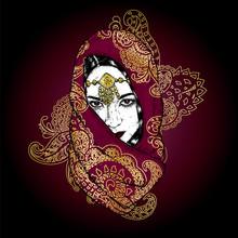 Beautiful Oriental Girl In A S...