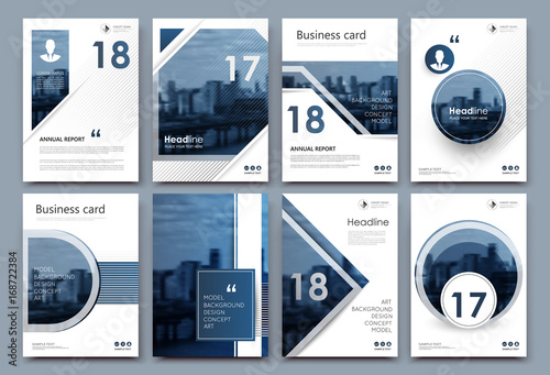 A4 brochure cover design graphic mockup for banner business card graphic mockup for banner business card title sheet model set info flyer ad text font modern vector front page art with urban city river bridge reheart Gallery