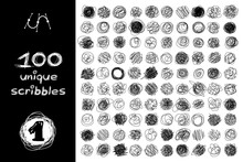 Vector SET 100 SCRIBBLES Par...