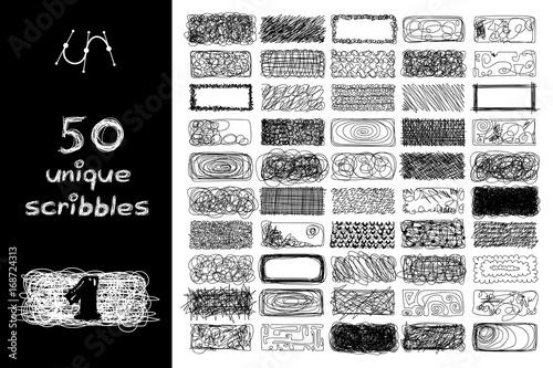 Valokuva  vector SET 50 rectangle SCRIBBLES Part 1